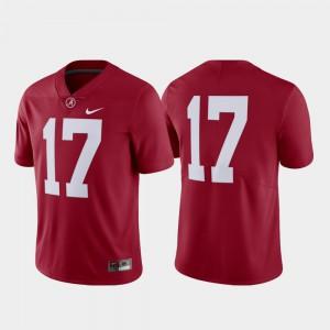 Alabama Jersey #17 Crimson Men College Football Limited 665357-580