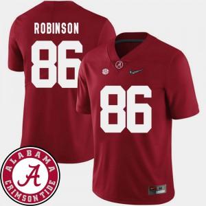 A'Shawn Robinson Alabama Jersey 2018 SEC Patch College Football Crimson #86 Men 460548-757