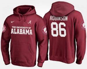 Crimson A'Shawn Robinson Alabama Hoodie #86 Men 335322-330