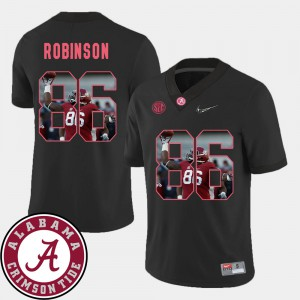 Football #86 Mens Pictorial Fashion Black A'Shawn Robinson Alabama Jersey 319901-415