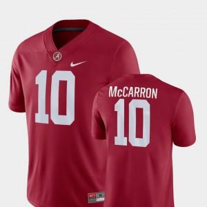 Game #10 AJ McCarron Alabama Jersey College Football For Men Crimson 756442-654