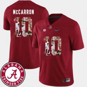 Pictorial Fashion For Men Football AJ McCarron Alabama Jersey Crimson #10 294088-661