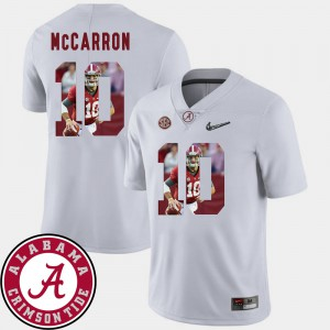 Pictorial Fashion AJ McCarron Alabama Jersey #10 Football White Men's 156016-441