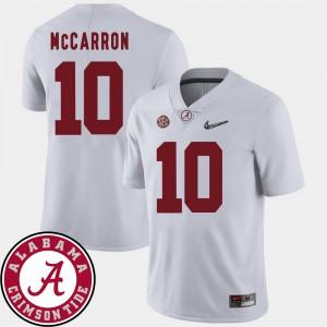 #10 College Football White 2018 SEC Patch AJ McCarron Alabama Jersey For Men 659444-680