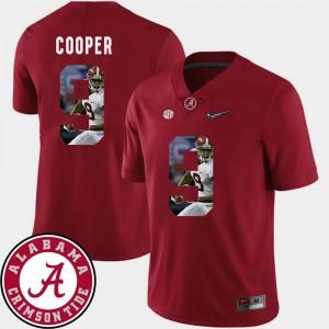 Football For Men's Crimson Amari Cooper Alabama Jersey #9 Pictorial Fashion 895376-419
