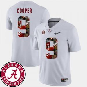 #9 White Amari Cooper Alabama Jersey Football Pictorial Fashion For Men 648431-415