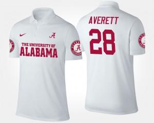 White #28 Men's Anthony Averett Alabama Polo 304711-819