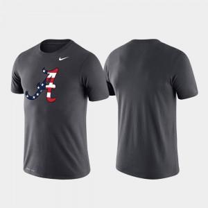 For Men's Americana Legend Performance Alabama T-Shirt Anthracite 780272-541