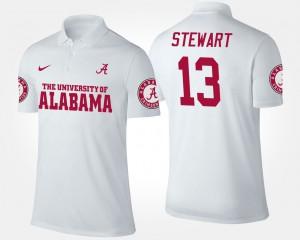 White ArDarius Stewart Alabama Polo #13 Men 689787-774