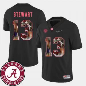 Men's #13 ArDarius Stewart Alabama Jersey Football Black Pictorial Fashion 524501-458