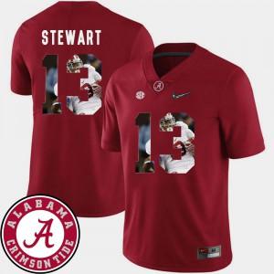 #13 Mens ArDarius Stewart Alabama Jersey Pictorial Fashion Crimson Football 501734-542