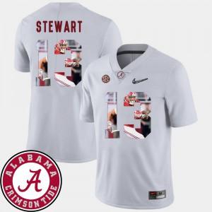 #13 For Men's Football ArDarius Stewart Alabama Jersey White Pictorial Fashion 883583-496