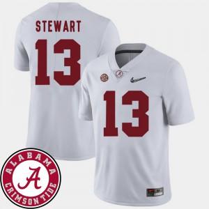 ArDarius Stewart Alabama Jersey College Football Men's #13 2018 SEC Patch White 803873-331