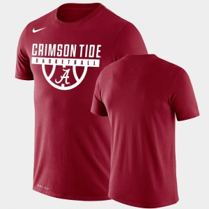 Drop Legend Men Performance Basketball Crimson Alabama T-Shirt 676554-676