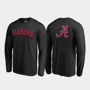 Alabama T-Shirt Primetime For Men Long Sleeve Black 859574-515