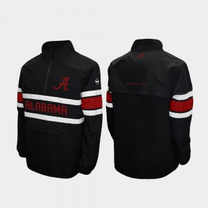 Alpha Windshell Pullover Men Quarter-Zip Alabama Jacket Black 410441-630