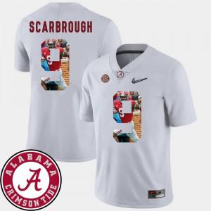 Football White Men's Bo Scarbrough Alabama Jersey #9 Pictorial Fashion 499036-718