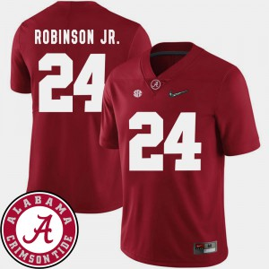 #24 2018 SEC Patch Brian Robinson Jr. Alabama Jersey Men's College Football Crimson 548645-315