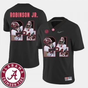 For Men's #24 Brian Robinson Jr. Alabama Jersey Football Black Pictorial Fashion 466580-159