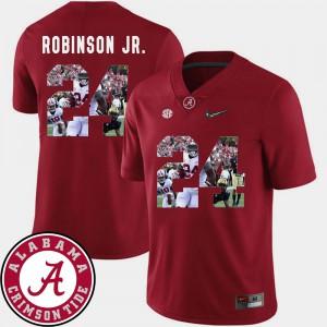 Football Brian Robinson Jr. Alabama Jersey Crimson #24 Men's Pictorial Fashion 993058-134