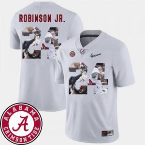 White Men Brian Robinson Jr. Alabama Jersey #24 Football Pictorial Fashion 210853-624