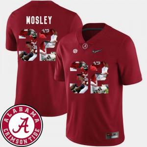 C.J. Mosley Alabama Jersey For Men #32 Football Crimson Pictorial Fashion 161416-383