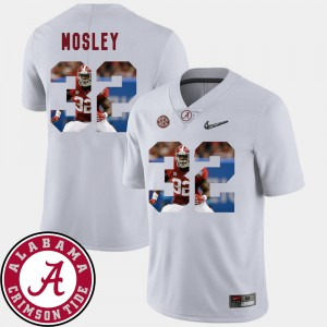 White Mens C.J. Mosley Alabama Jersey #32 Football Pictorial Fashion 680245-220