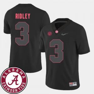 Men Calvin Ridley Alabama Jersey #3 2018 SEC Patch Black College Football 813955-298