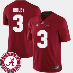 College Football Calvin Ridley Alabama Jersey #3 Crimson Men 2018 SEC Patch 326959-465