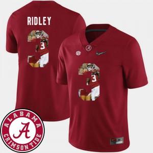 Pictorial Fashion Calvin Ridley Alabama Jersey Football For Men's #3 Crimson 824441-647