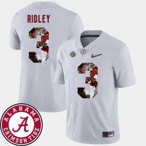 Pictorial Fashion #3 Football Calvin Ridley Alabama Jersey White For Men's 444886-574