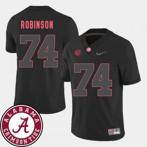 2018 SEC Patch Cam Robinson Alabama Jersey #74 College Football Black Men 943664-292