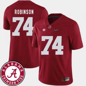 #74 Crimson College Football 2018 SEC Patch For Men Cam Robinson Alabama Jersey 289753-474
