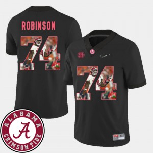#74 Football Cam Robinson Alabama Jersey Black For Men's Pictorial Fashion 610476-326