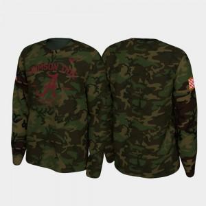 Mens Alabama T-Shirt 2019 Veterans Day Legend Long Sleeve Camo 753587-261