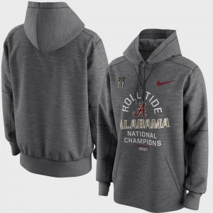 College Football Playoff 2017 National Champions Celebration Victory Bowl Game For Men's Alabama Hoodie Charcoal 929554-126