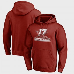 College Football Playoff 2017 National Champions Official Bowl Game Crimson Alabama Hoodie Mens 427025-988