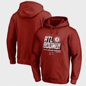 Crimson Men's Alabama Hoodie College Football Playoff 2018 Sugar Bowl Champions Flea Flicker Bowl Game 502716-194