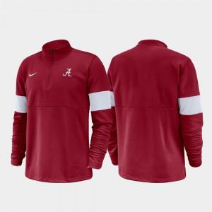 2019 Coaches Sideline Crimson Alabama Jacket Men's Half-Zip Performance 944317-716