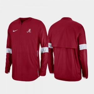 Quarter-Zip 2019 Coaches Sideline Crimson For Men's Alabama Jacket 304421-461