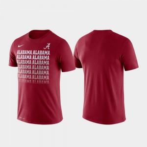 Crimson Alabama T-Shirt Performance Fade Men's 154227-456