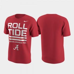 Crimson Mens Performance Alabama T-Shirt Local Verbiage 170803-809