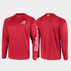 Omni-Shade Crimson PFG Terminal Tackle Long Sleeve For Men Alabama T-Shirt 591050-334