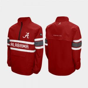 Alabama Jacket Alpha Windshell Pullover Men's Crimson Quarter-Zip 961719-954