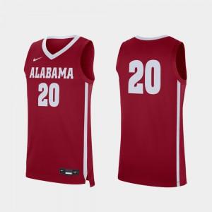Alabama Jersey #20 Replica College Basketball Men Crimson 549479-360