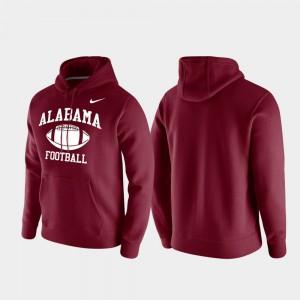Club Fleece Crimson Retro Football Alabama Hoodie Men 544708-918