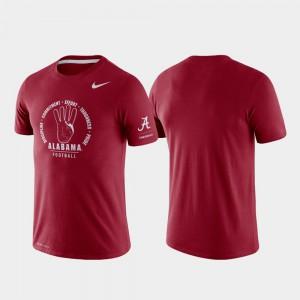 Rivalry Crimson Tri-Blend Performance Alabama T-Shirt Men 595820-329