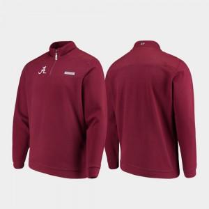 Crimson Alabama Jacket Quarter-Zip Shep Shirt Mens 903705-648