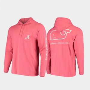 Whale Men Alabama T-Shirt Crimson Hooded Long Sleeve 932787-849