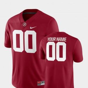 Crimson For Men's #00 College Football 2018 Game Alabama Customized Jersey 139734-917